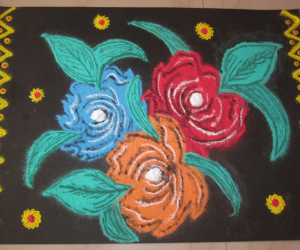 Rangoli: Three Roses