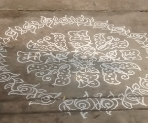 Rangoli: Butter...flies....