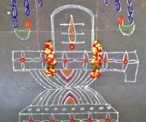 Shivratri rangoli