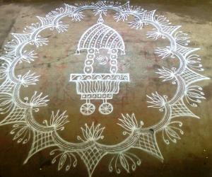Rangoli: Rathasapthami Kolam