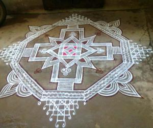 Rangoli: Rajamma Mam's kolam
