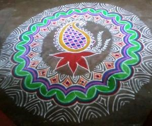 Rangoli: Marghazhi -15 Happy New Year