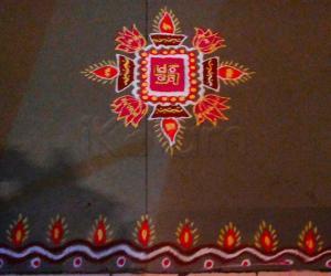 Rangoli: Happy Diwali kolam