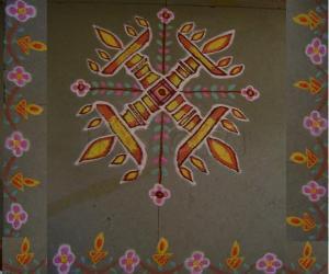 Rangoli: Lamps Kolam