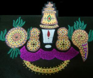 Rangoli: Vaikunta Ekadasi Kolam