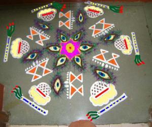 Rangoli: Krishna Jayanthi Maakolam