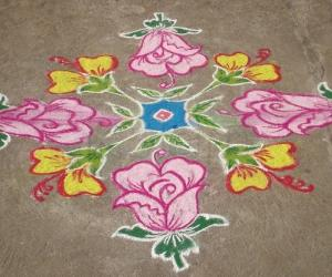 colour kolam