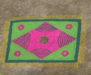 Rangoli: freehand rangoli