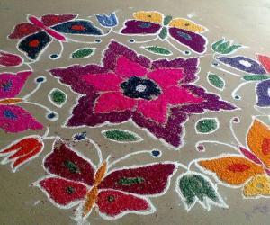 Rangoli: Inauguration rangoli