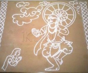 Rangoli: Shri Vamana Avatara & Bali Chakravarthi
