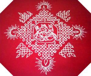 Rangoli: Happy Sankrathi/ Pongal/ UttaraayaNa Punyakaala