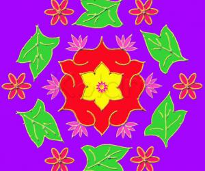 Rangoli: Star Flowers
