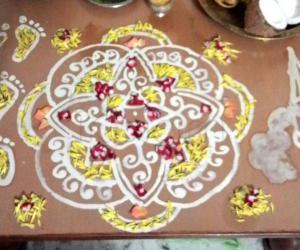 Rangoli: Shri Krishna JanmashTami - 2015