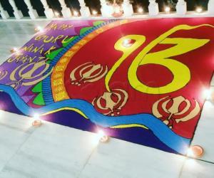 Rangoli: Gurunanak jayanti rangoli