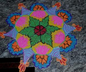 Rangoli: Marghazi 2Nd day kolam