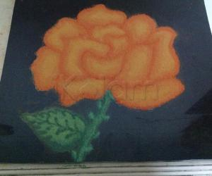 Rangoli: Orange rose