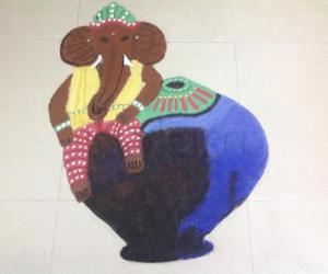 Rangoli: Fusion Ganesha