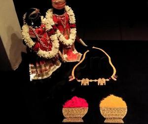 2018- Panguni Uthram- Wedding anniversaries of the Divine couples...Thirumangalyam, Manjal and Kumkum- with Wedding dolls