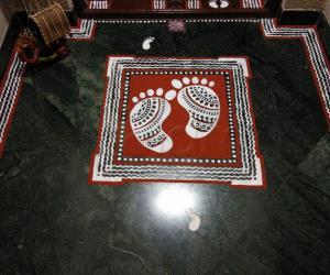 2019- Janmashtami- Threshold Kolam- Krishna