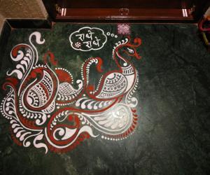 Home Kolams- Peacock