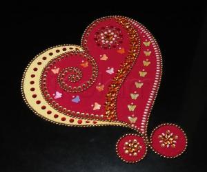 Home Kolams- Heart rangoli...