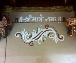 Pooja Room Kolams