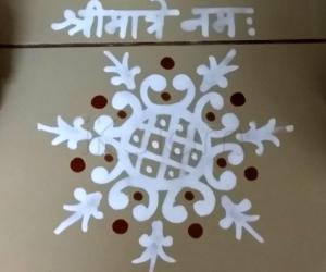 Pooja Room Kolam