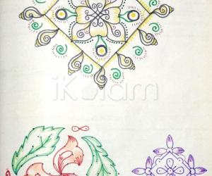 Kolam Notebook Kolams- 100