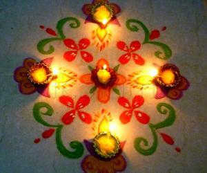 Rangoli: Karthigai Deepam 1
