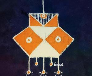 Navarathri Day 4: color code: Orange - lantern