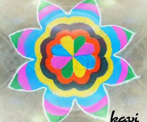 Rangoli: Colorful padi
