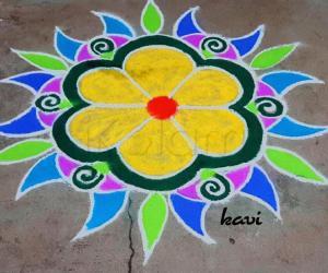 Rangoli: Colorful rangoli