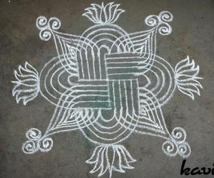 Rangoli: Simple padi kolam