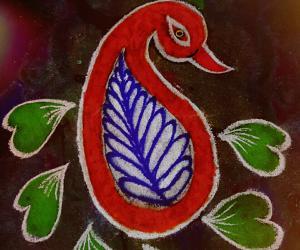 Marghazhi Day 8 : peacock kolam
