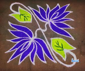 Rangoli: 7-7 straight dots flower kolam