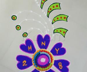 Rangoli: New year 2018 kolam: Marghazhi day 17
