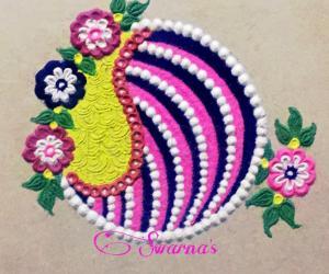 Simple colourful rangoli