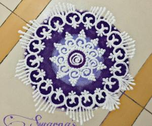Navaratri Day 8 purple colour