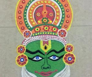 Onam special Kathakali face