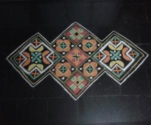 square rangoli
