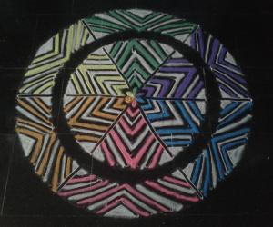 Multi colour rangoli