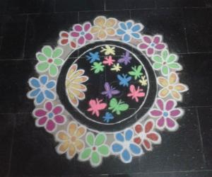 Multi colour kolam