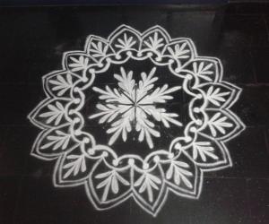 white rangoli