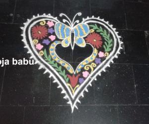 Rangoli: Valentine rangoli 4