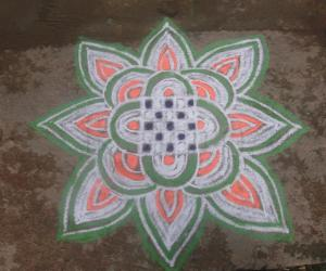 Rangoli: Happy Independence Day to all Indians!!!!!