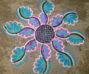 karthigai first day kolam