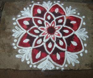 Rangoli: margali 13thday rangoli