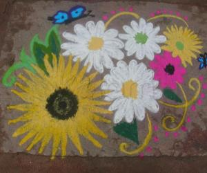 Rangoli: flower rangoli