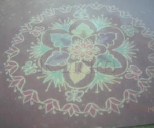 Rangoli: flowers n butterflies