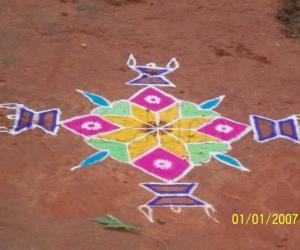 Rangoli: karthigai deepam special